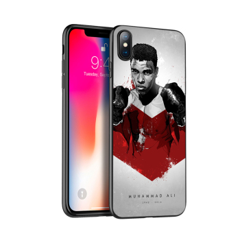 Juoda tpu case for iphone 5 5s SE 2020 6 6s 7 8 plus x 10 silicon cover for iphone XR XS 11 pro Max Muhammad Ali bokso čempionas