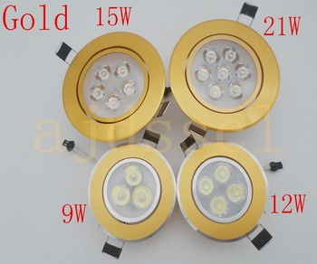 LED Downlight Embedded Pritemdomi LED Downlight COB 9W 12W 15W 21W LED Spot light apdailos Lubų Lempa AC/DC12V